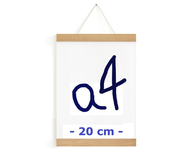 posterleiste - magnetisch -  a4 eiche