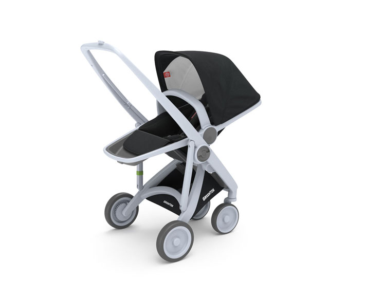 greetom upp reversible seat - reversible seat-rahmen grau