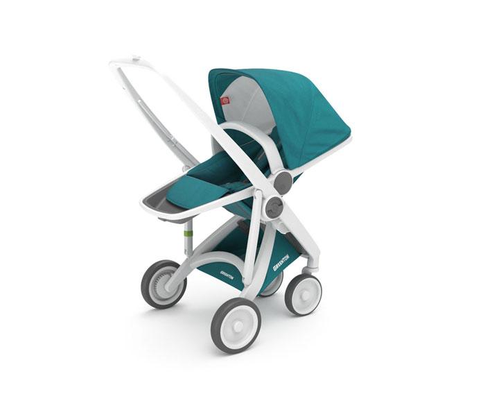 greentom reversible - reversible seat-rahmen weiß