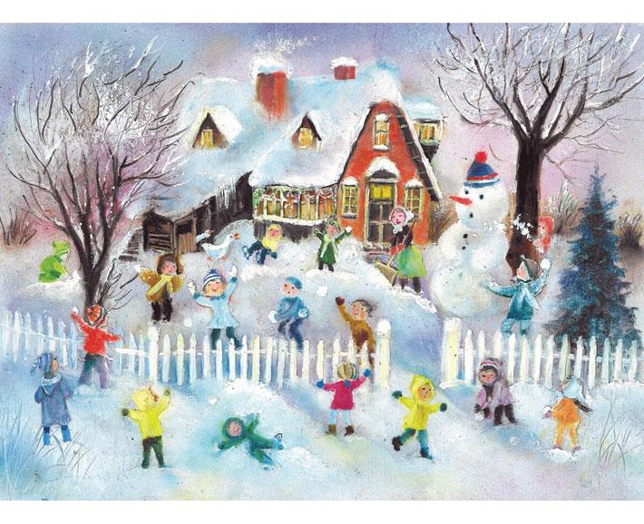 schneeballschlacht - adventskalender