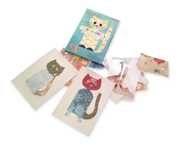 schablonella - postkartenset
