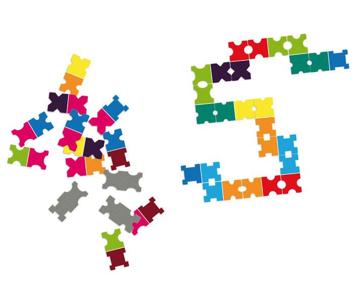 dominospiel - farbschlange
