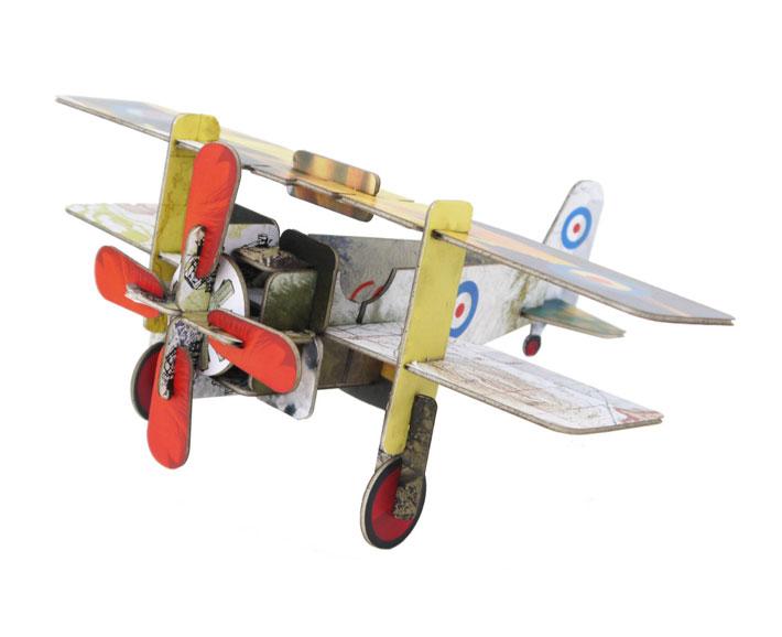 pappflugzeug - doppeldecker