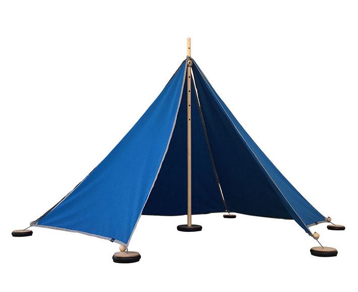 Spielzelt für Draußen und Drinnen - Abel1 blau
