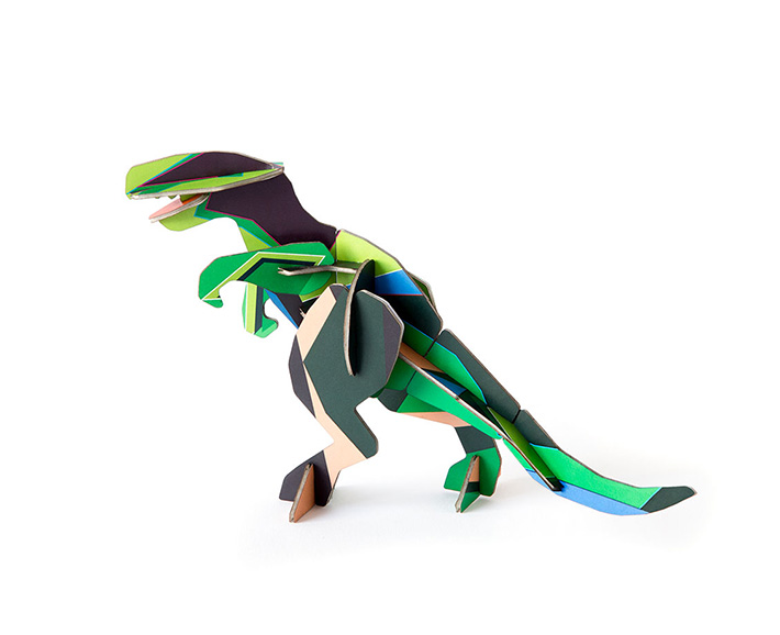 t-rex aus pappe - zum stecken