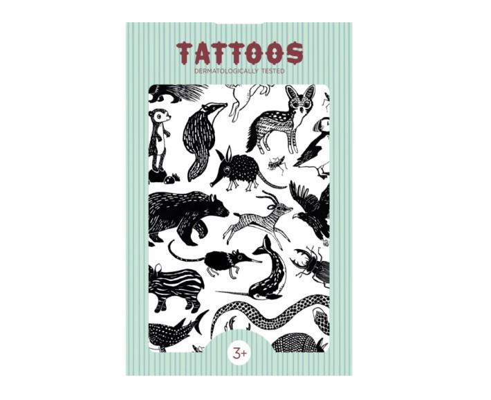 tattoo tiere - schwarz-weiß