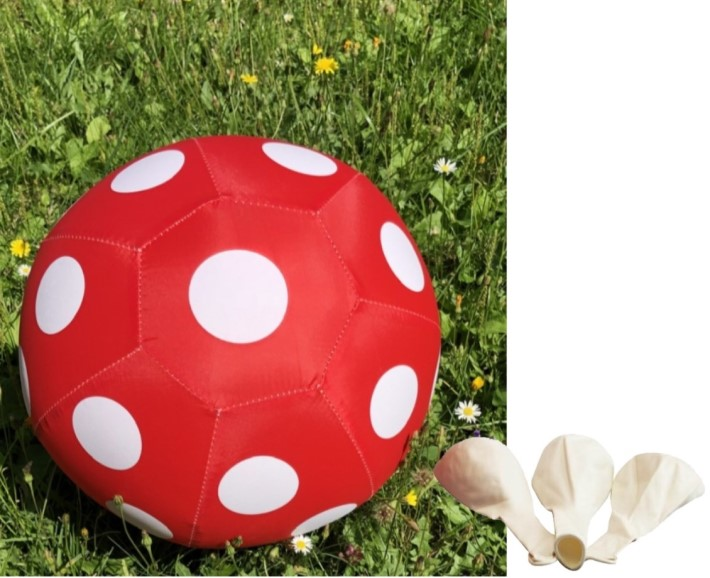 federleichter roter ball - zum in die Tasche stecken