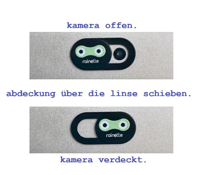 kamera und webcam cover - kinderleicht.