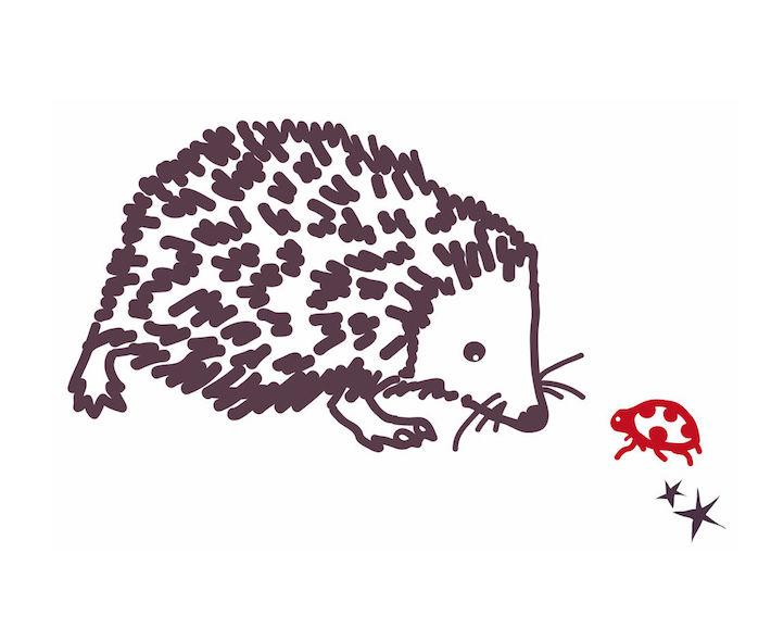 wandmotiv igel - mimi'lou