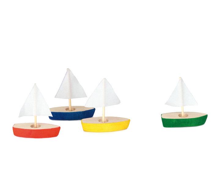 mini-segelboote (4er set) - 4-er pack