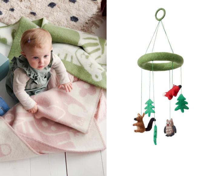 filzmobile - heart and flowers klippan