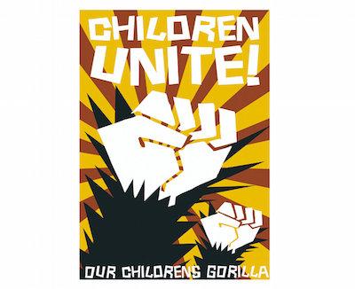poster 100 x 70 cm - childrens gorilla