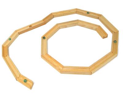 sandkugelbahn - aus holz