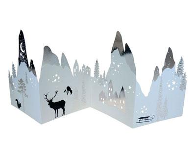 winter silhouetten - aus pappe