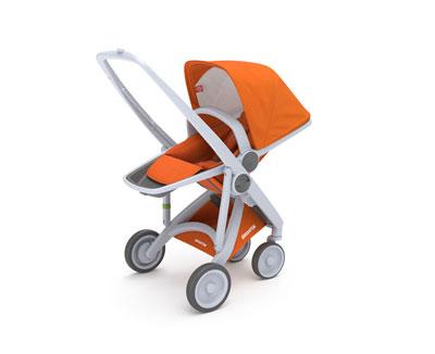 greentom reversible - reversible seat-rahmen grau