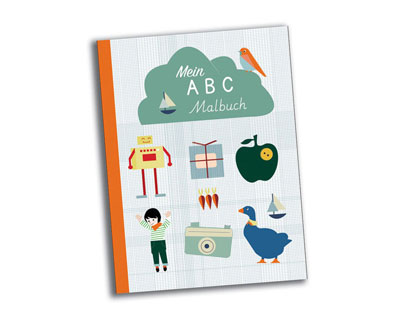 abc malbuch - 100% recycling