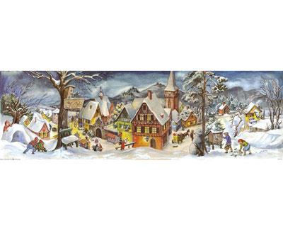 kleine stadt im winter - adventskalender