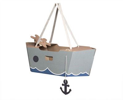 pappboot - mit gurten