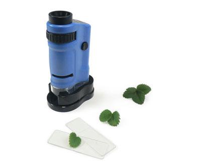 mini mikroskop - mit beleuchtung