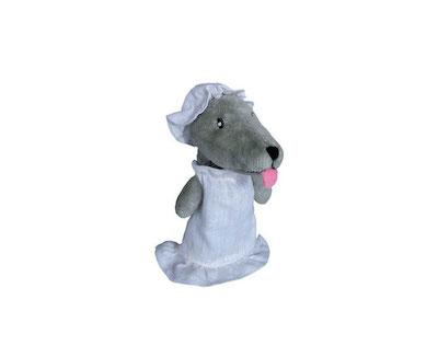 fingerpuppe - wolf mit haube