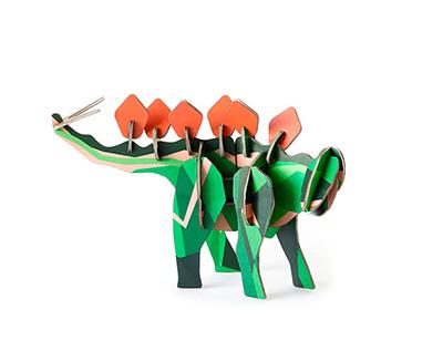 stegosaurus aus pappe