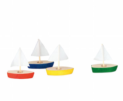 mini-segelboote (4er set) - 4-er pack