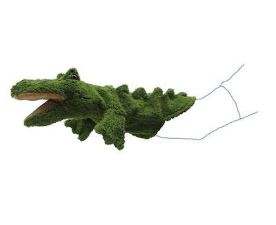 handpuppe krokodil - ökobaumwolle