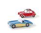 cool cars - blau und rot