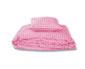 bettdeckenbezug - karo gross/klein rosa
