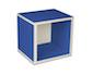 regalsystem würfel - blau
