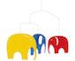 elefantenmobile - rot blau gelb